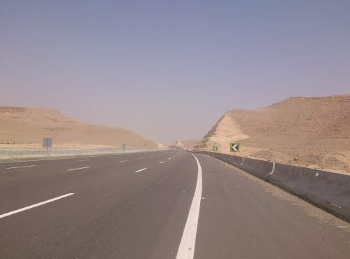 97% of Suez Desert Road Completed