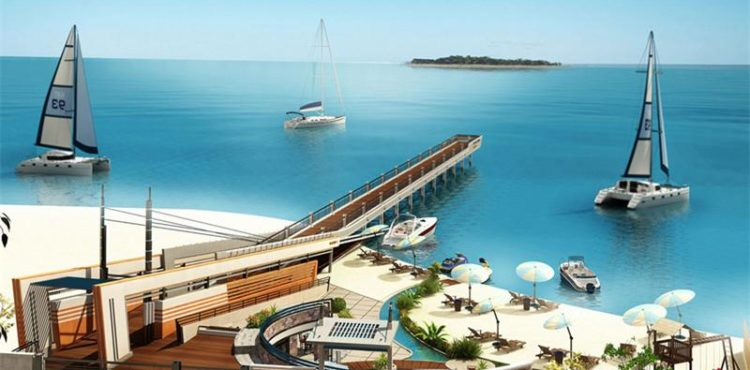 70% of Virgin Island in Hurghada Completed