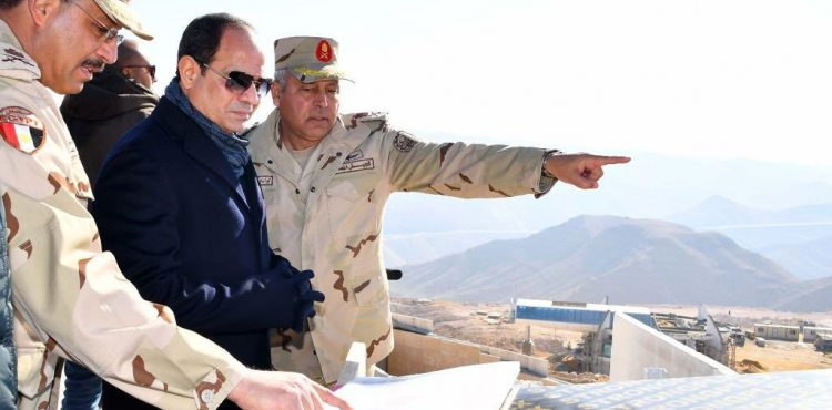 Egypt's Sisi Visits Galala Mountain for Latest Developments
