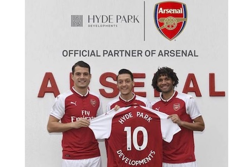 Hyde Park Developments Named The Official Partner of Arsenal FC