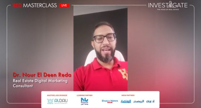 Invest-Gate's Red Masterclass | Dr. Nour El Deen Reda - RED Marketing