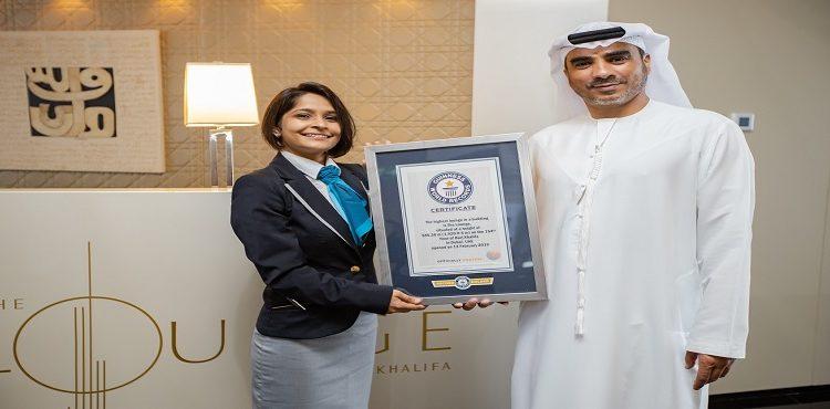 The Lounge, Burj Khalifa Sets New Guinness World Record