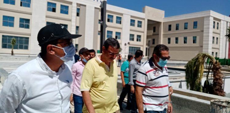 Deputy Minister of Housing Inspects El Alamein International University
