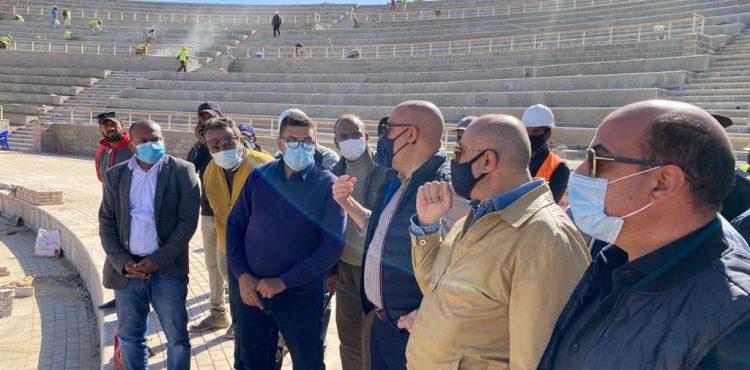 El Gazzar Inspects New Aswan City Projects
