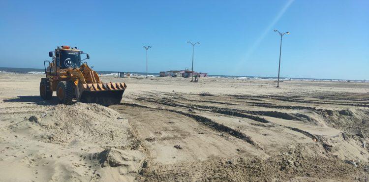 New Damietta Beach is Under Preparations