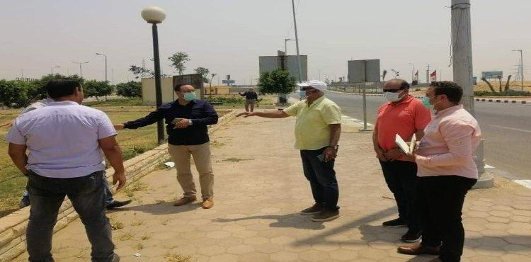 مسئولو «الإسكان» يتفقدون عددًا من المشروعات بمدينة الشروق